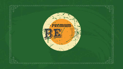 frayed round of a excellent value brew partner with old school lettering over an fancy antique Animation