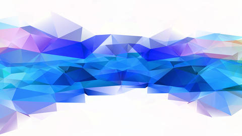 fatal 3d polygon geometrical figure with crumpled cardboard like texture and intelligent colours Animation