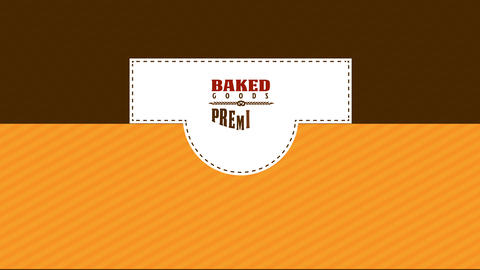 package with adjustable parts for a bake shop using different typography for the variety of products Animation