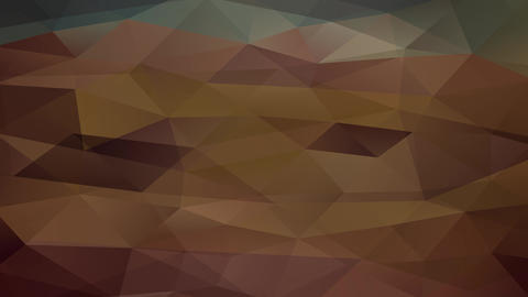 television lines effect over an abstraction design composed with triangles of different tones Animation