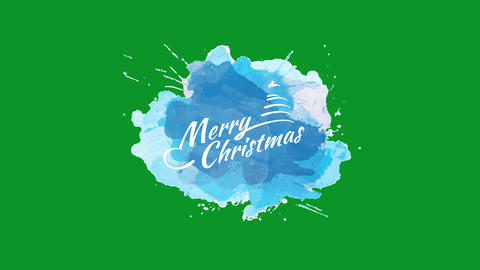 merry christmas message written with classical white typography decorated with a popular timber and Animation