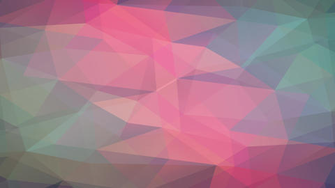 soft 3d understanding science designed with triangles of different colors and tones creating Animation