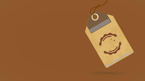 value coffee product collective individuality in the form of a clothing cardboard coupon loose on a Animation