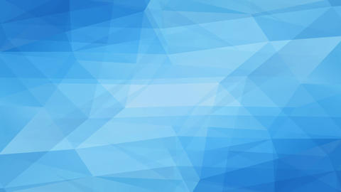 blue abstraction geometric polygon creating freeze like formations with 3d effect resembling a gem Animation