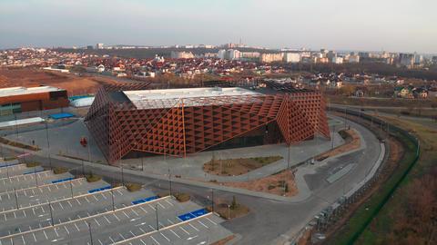 Chisinau Arena aerial exterior view Live Action