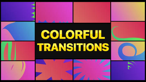 Colorful Transitions After Effects Template