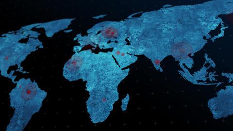 Covid map GIF