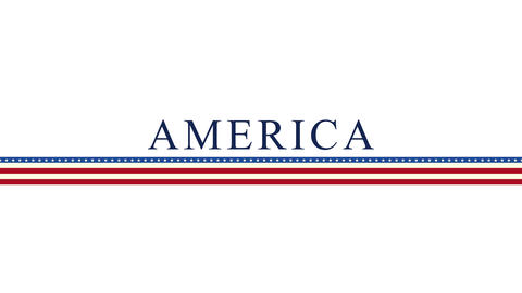 Animated closeup text America on holiday background, Nation Day of USA Animation