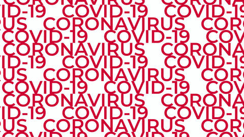 COVID-19 coronavirus text concept motion background Videos animados