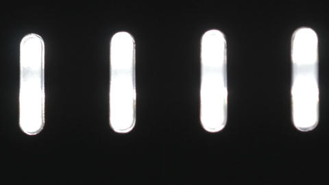 White LED buttons loading Footage