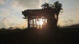 Balinese Farmer Is Burning Stubble In Rice Field 0