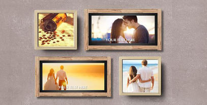 Wood Wedding Display Video After Effects Template
