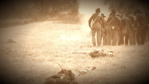 Dead and wounded on battlefield of civil war (Archive Footage Version) Live Action