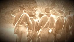 Scene on the battlefield (Archive Footage Version) Footage