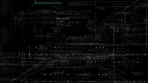 Futuristic Matrix Cyber Environment Animation