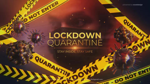 Lockdown Quarantine Cinematic Title After Effectsテンプレート