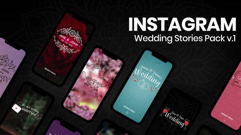 Wedding Instagram Stories v1 After Effectsテンプレート