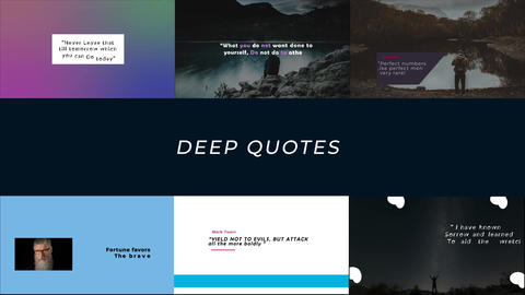 Deep Quotes And Tiltles After Effects Template