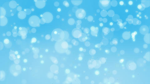 Bright turquoise bokeh particle background Animation
