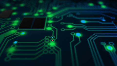 Electric Circuit Board Background Animation