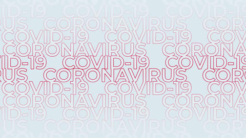 Coronavirus COVID-19 abstract text animated background Videos animados