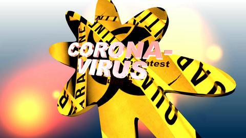 642 4k 3d animated quarantine footage of coronavirus Animation