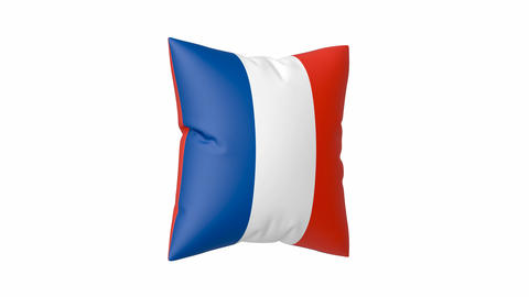 French flag on pillow Animation