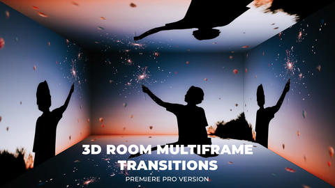 3D Multiframe Transitions Premiere Pro Template