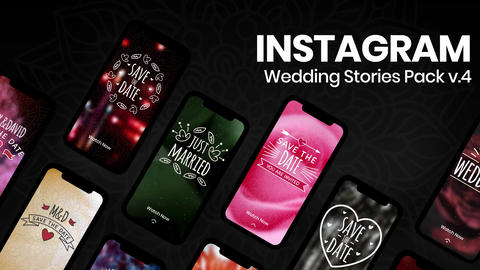 Wedding Instagram Stories v4 After Effectsテンプレート