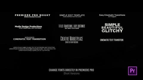 28 Glitch Titles // MOGRT // Premiere Pro Motion Graphics Template