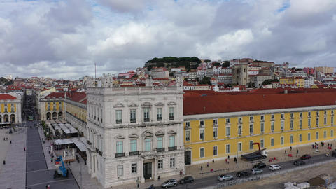 Amazing architecture at Commerce Square Lisbon - the famous Praca do Comercio Live Action