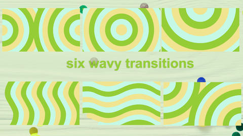 Wave-like transitions2 Motion Graphics Template