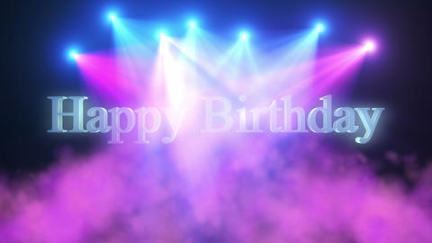 Happy Birthday_Title_Lights & Smoke Show Animation