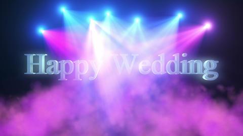 Happy Wedding_Title_Show&Smoke_Lights CG動画