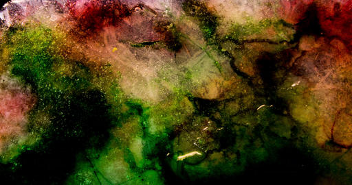 Multicolored ice plate melting 4K Footage