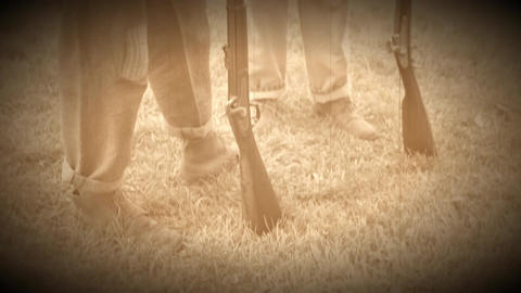 The feet and guns of Union soldiers (Archive Footage Version) Live Action