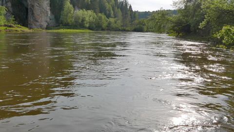 The water of the river Serga, Russia Footage