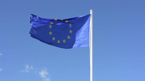The european flag Footage