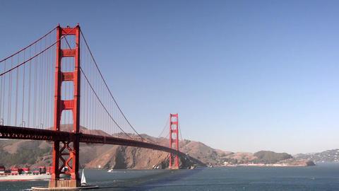 Golden Gate Bridge Fast Motion Video Footage