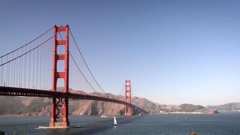 Golden Gate Bridge View Footage