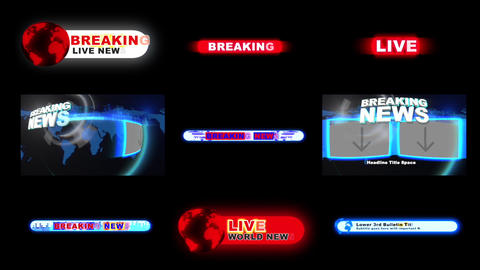 Breaking News Toolkit Apple Motion Template