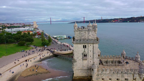Famous landmarks of Portugal - Belem Tower Live Action