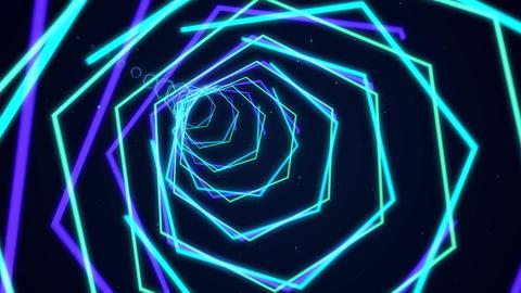 六角形のループ素材 01 CG動画