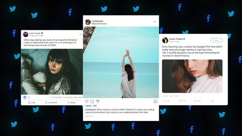 Animated Social Posts Apple Motion Template