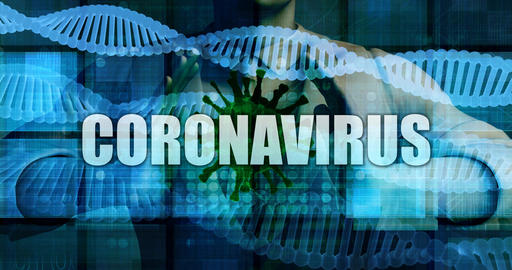 Coronavirus with Medical Personnel Containing Virus Germ Live Action