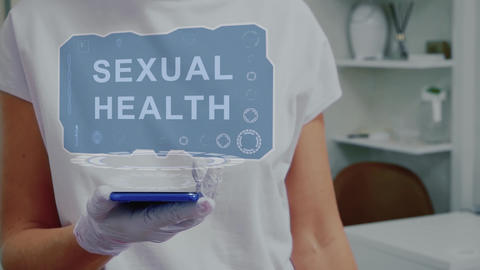 Doctor with hologram Sexual Health Live Action