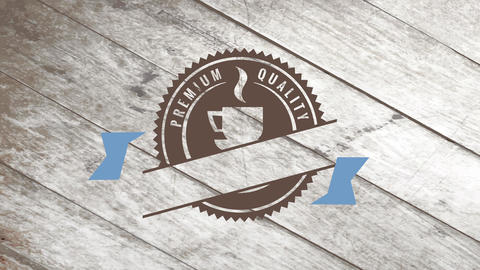 curve premium value caffeine painting over a faded wooden flooring with a warm drink cartoon Animation