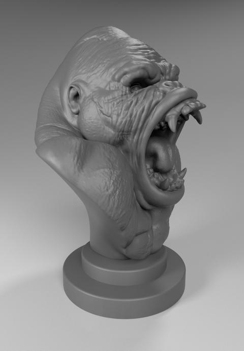 Gorilla Bust Modelo 3D