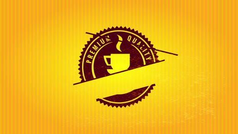 rounded chainsaw cutting edge design for high standard coffee product using old fashion typography Animation