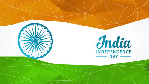 india national independence day vacation celebration concept art designed with the colours of the Animation